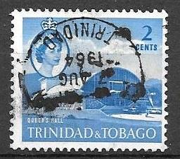 Trinidad and Tobago 1960 2 cents Queen's Hall, used, Scott #90