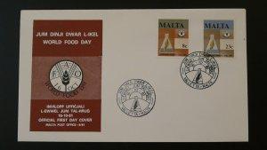 world food day FAO FDC 1981 Malta 79680