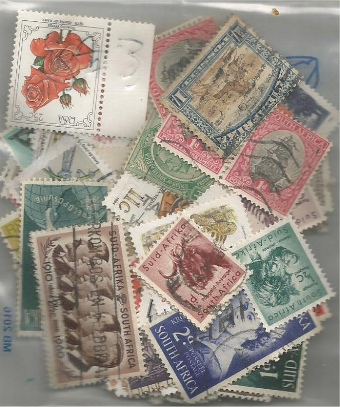 SOUTH AFRICA, used/mint mixed x100 (all different).1