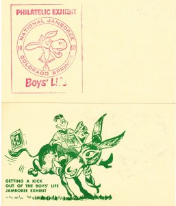 1960 Boy Scouts of America National Jamboree Colorado Springs, CO Postal Card