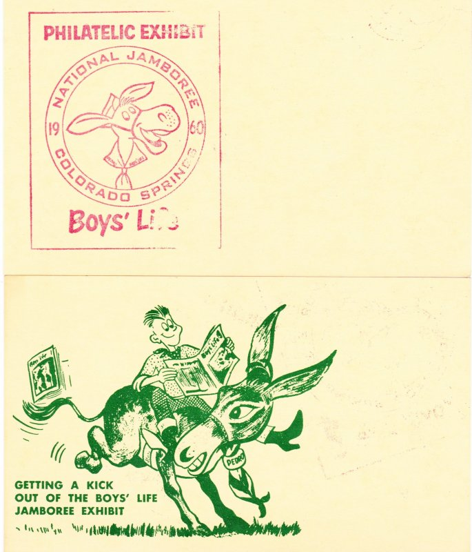 1960 Boy Scouts of America National Jamboree Colorado Springs, CO Postal Card