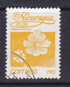 Nicaragua  #1222 1983 Tagetes erecta 1.00c Stamp used.