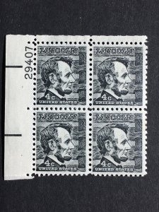 Scott # 1282 Abraham Lincoln, MNH Plate Block of 4