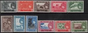 Malaya-Kedah 1957 SC 83-93 Mint SCV$ 108.00 Set