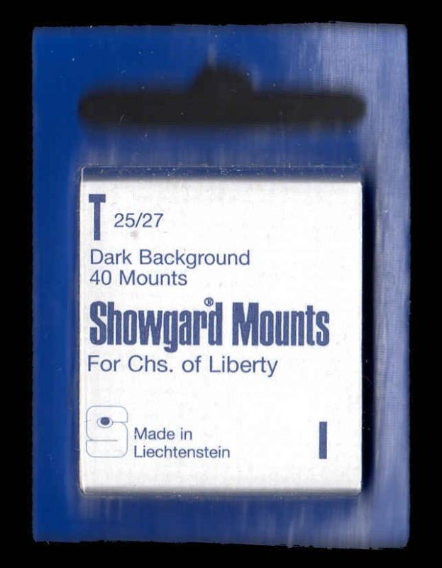 Showgard Black Stamp Mounts T PreCut  (40 count)