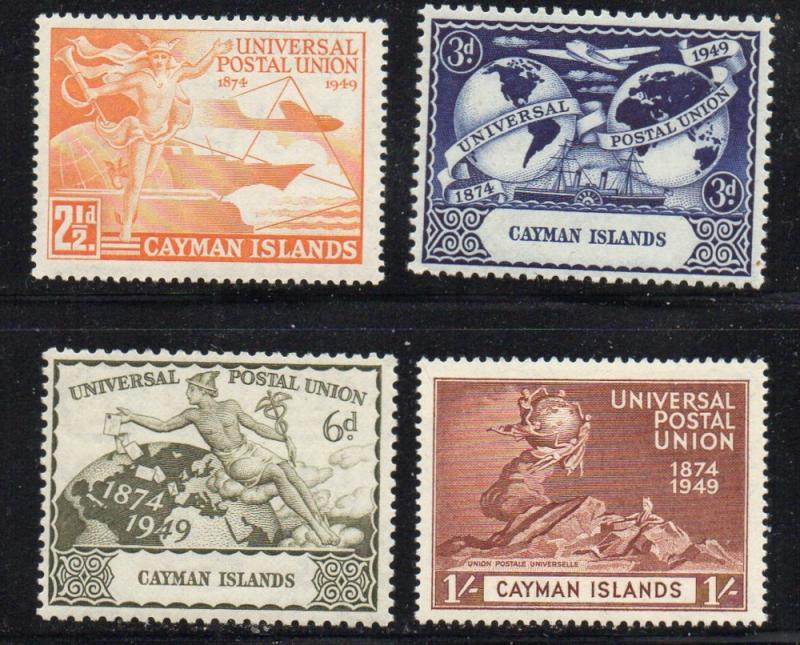 Cayman Islands Sc 118-21 1949 UPU Anniversary stamp set mint