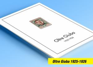 COLOR PRINTED OLTRE GIUBA 1925-1926 STAMP ALBUM PAGES (5 illustrated pages)