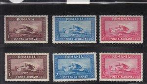Romania: Sc #C1-C6, MH (34809)