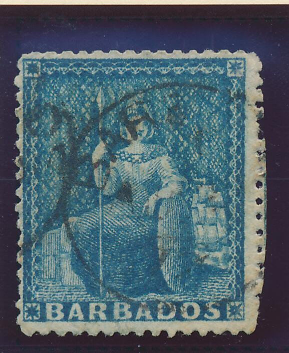 Barbados Stamp Scott #29, Used, Has Part of the Perfs From Next Stamp - Free ...