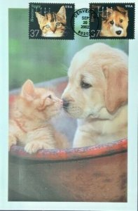 HNLP Hideaki Nakano Greeting Card Spay Neuter 3671/2 Dog Cat I want to get old