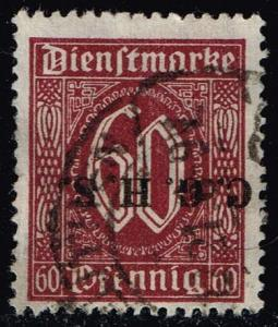 Germany #O9 Official - Numeral; CTO (0.25)