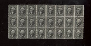 USA #36b Mint Fine - Very Fine Block Of 24 Full Original Gum **With Cert.**