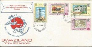 SWAZILAND, 1979,FDC,,Post and Telecommunication Scott 338-341
