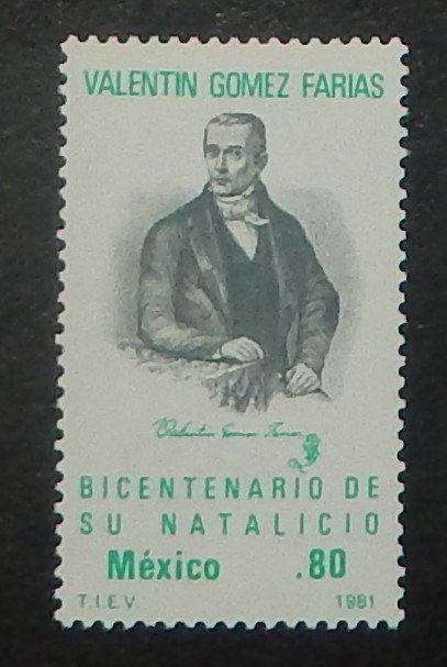 Mexico 1225. 1981 Valentin Gomez Farias, NH