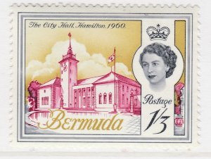 British Colony Bermuda 1962 1.3s MH* Stamp Historical Buildings A22P18F8926