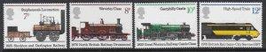 Great Britain #749-52 F-VF Mint NH ** Railroads