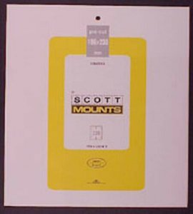 Scott/Prinz Pre-Cut Souvenir Sheets Small Panes Stamp Mounts 186x230 #1015 Clear