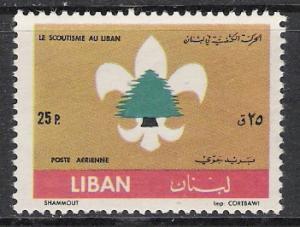 Lebanon #C333 Airmail Boy Scouts MH