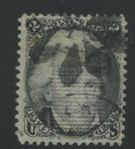 1868 United States Postage Stamp #85B Used F/VF Z Grill Multi Cancel Certified