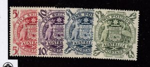 AUSTRALIA # 218-221 VF-MLH COAT OF ARMS COMPLETE SET CAT VALUE $278