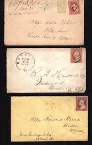 United States  26  used covers 3 diff