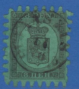 Finlande 7 8 Stylo 1866 Jaaskis Cancel Rarity R5