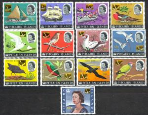 Pitcairn Islands Sc# 72-84 MNH 1967 Surcharged