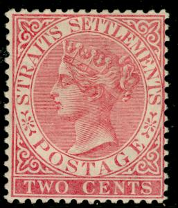 MALAYSIA - Staits Settlements SG63, 2c pale rose, M MINT. Cat £50.