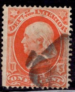 US Stamp #O15 1c Interior USED SCV $10.00