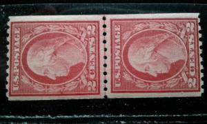 US #488 MNH line pair e195.4272