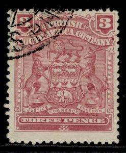 RHODESIA QV SG83, 6d reddish purple, FINE USED.