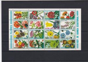 Republic of Equatorial Guinea Various Flowers Used Stamps Sheet Ref 25099