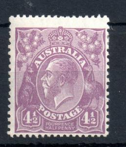 Australia 1926 KGV 4 1/2d mint LHM SG#92 WS13964