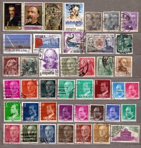 ESPANA SPAIN Different Used Stamps Lot #213