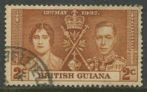 STAMP STATION PERTH British Guiana #227 Coronation Issue Used CV$0.30