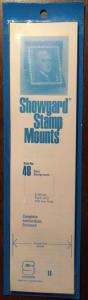 Showgard Stamp Mounts Size 48/215 BLACK Background Pack of 8