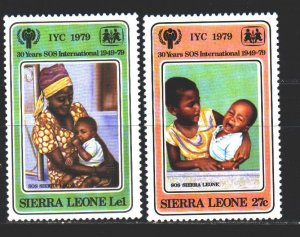 Sierra Leone. 1979. 579-80 from the series. UNICEF children. MNH.