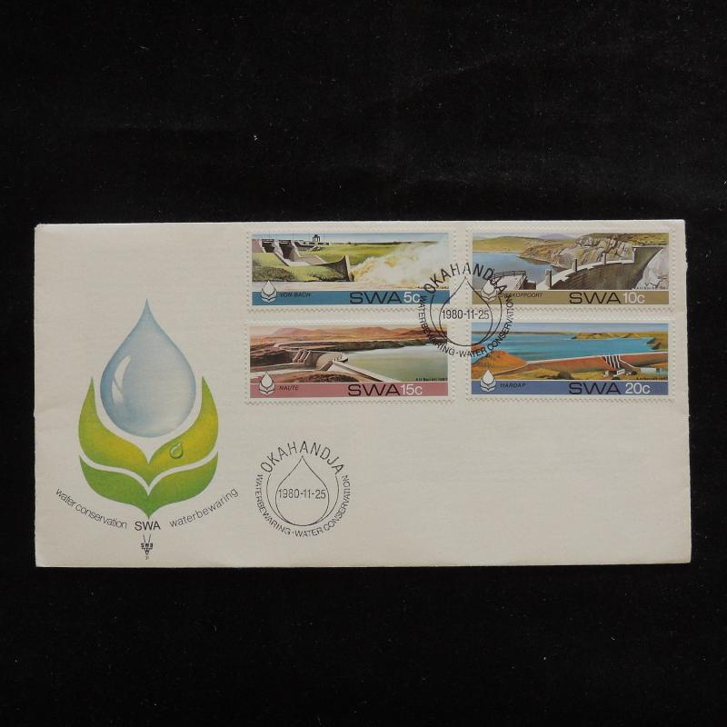 ZS-R747 S. WEST AFRICA IND - Fdc, 1980 , Waterbewaring Nature Conservation Cover