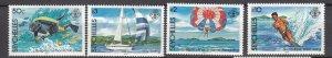 J28186 1984 seychelles set mh #551-4 sports