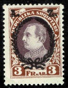 Albania #195  MOG - President Ahmed Zogu (1925)