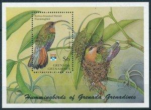 [108790] Grenada Grenadines 1992 Birds vögel oiseaux Hummingbirds Sheet MNH