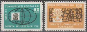 Turkey #1478-9  MNH F-VF  (SU122L)