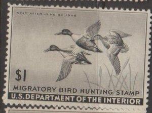 U.S. Scott #RW12 Duck Stamp - Mint Single - IND
