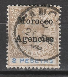 MOROCCO AGENCIES 1903 KEVII 2P WMK CROWN CA USED