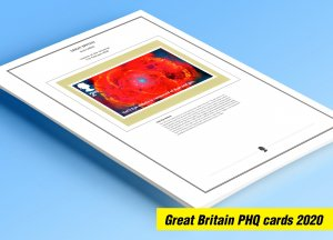 COLOR PRINTED GREAT BRITAIN 2020 PHQ CARDS STAMP ALBUM PAGES (140 illust. pages)
