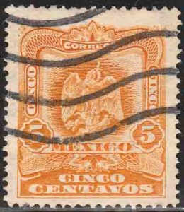 MEXICO 307, 5¢ EAGLE COAT OF ARMS. USED. F-VF. (204)