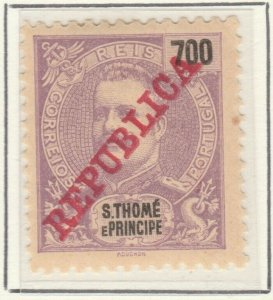 Portugal ST. THOMAS AND PRINCE ISLANDS 1911 700r MH* A5P55F22