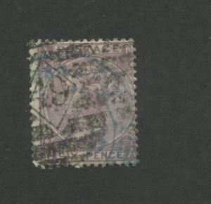 1867 Great Britain United Kingdom Queen Victoria 6 Pence Postage Stamp #50