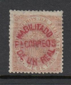 Philippines #129 1 Real RARE Overprint Issue (Mint -   Hinged)