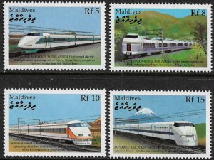Maldive Is #2438-41 MNH Set - Trains